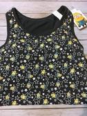 【京之物語】日本環球影城小小兵Minion星星黑色女性背心M號(附罩杯)-現貨