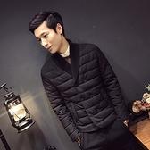 夾克外套-V領時尚休閒百搭舒適夾棉男外套73qa47【時尚巴黎】
