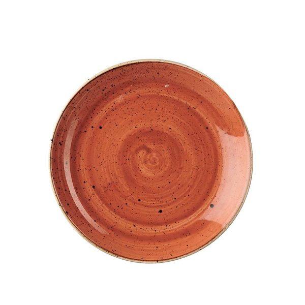 英國Churchill 點藏系列 - 圓形16cm點心水果盤(彩橘色)