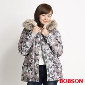 BOBSON 女款迷彩軍風外套(灰34108-01)