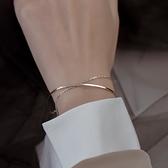 手鏈 新款雙層閨蜜手鏈手飾品漸凍人手鐲女網紅ins小眾設計冷淡風學生 小衣里