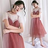 孕婦裝 潮媽個性網紅套裝 時尚款孕婦紗裙超仙連身裙