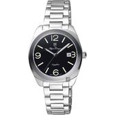 Olympianus 奧柏 經典復刻女錶-黑x銀/34mm 5706LS