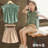 女童夏裝韓版洋氣時髦套裝夏季兒童裝大童時尚短袖兩件套【奇趣小屋】