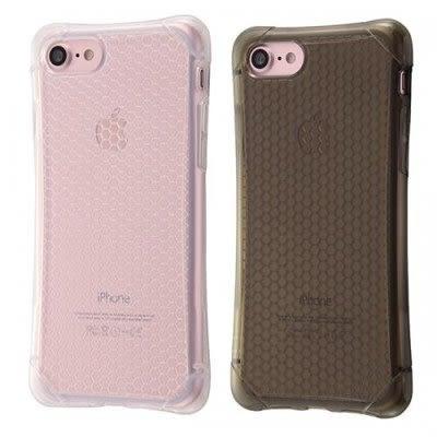 尼德斯Nydus 日本正版 四角強化 衝擊吸收 透明 格紋款 TPU 軟殼 手機殼 4.7吋 iPhone7