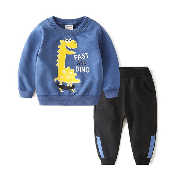 童套裝 長袖休閒套裝 印花上衣 長袖套裝 男童 女童 88224