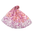 NINA RICCI滿版花卉抗UV純綿薄圍巾(粉紫色)989403-A
