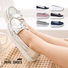 [Here Shoes]2色 馬卡龍色系莫卡辛流蘇蝴蝶結 舒適厚底增高4.5CM鬆糕鞋 厚底包鞋◆MIT台灣製─KIPNTA906