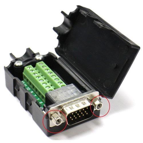 高清VGA15P 公(3+9)免焊式DIY接頭組合包 (六角螺母)