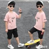 中大尺碼童裝 男童套裝2020新款兒童短袖夏季運動中大童洋氣男孩帥氣潮 DR34764【男人與流行】