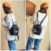 韓版復古石頭紋時尚迷你雙肩包純色PU皮潮流百搭小背包 後背包 都市韓衣