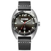 Jeep Spirit   美國指標美式復古風腕錶-銀X黑色