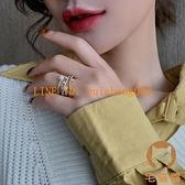 枝蔓三層珍珠戒指女精致時尚韓版個性指環食指手飾【宅貓醬】