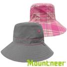『VENUM旗艦店』【Mountneer】透氣抗UV雙面帽『卡其灰/粉紅』11H18