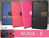加贈掛繩【星空側翻磁扣可站立】 for NOKIA 8 Nokia8 TA-1052 皮套側翻側掀套手機殼手機套保護殼