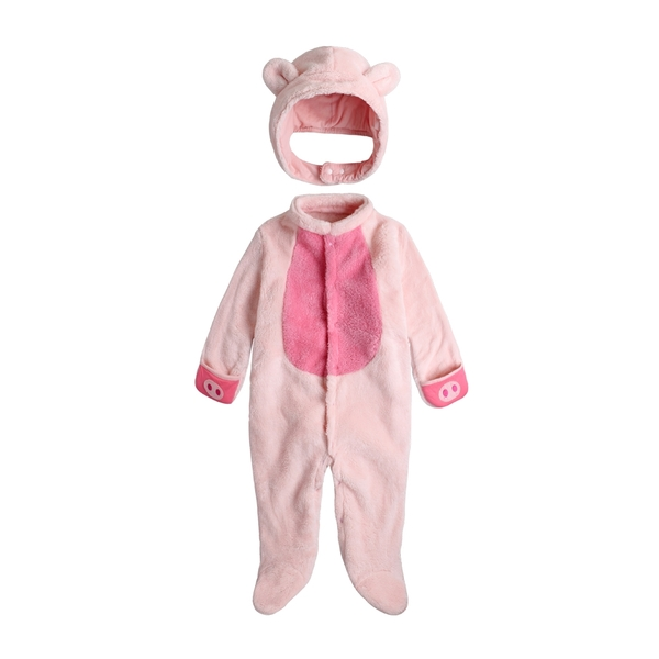 包腳連身衣 男女寶寶 立體動物裝 造型爬服 哈衣 爬衣 附兜帽 82035