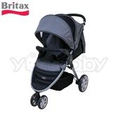 Britax B-Agile (銀管)單手收豪華三輪手推車 -灰色