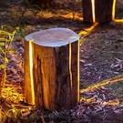 太陽能鄉村樹樁草坪燈戶外防水草地燈庭院燈花園燈景觀燈公園林燈 【快速出貨】