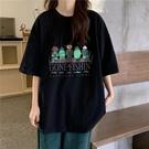 超火ins學生短袖t恤女2020夏裝新款韓版mschf復古港風chic上衣潮 依凡卡時尚