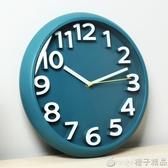 現代簡約掛鐘客廳家用時尚時鐘掛墻免打孔創意靜音石英鐘掛表鐘表 『橙子精品』