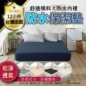 【100%完全防水】防塵 舒適棉料 舒適觸感 雙人加大床款防水保潔墊 床包式保潔墊 透氣排汗床單