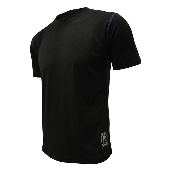 吸濕排汗衣 運動短袖T恤 極致輕量 NCAA(黑色)
