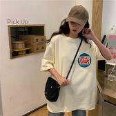 短袖 港風短袖t恤女2019新款夏裝學生韓版寬鬆百搭潮ins很仙的上衣洋氣 維多