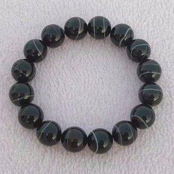【歡喜心珠寶】【天然瑪瑙圓珠12mm手鍊】16顆「附保証書」佛教七寶之一瑪瑙,也稱藥師珠
