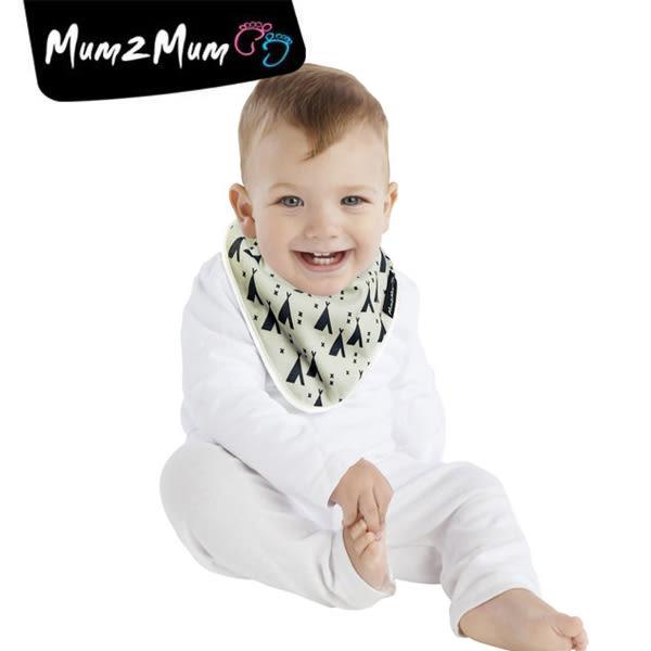 紐西蘭 MUM 2 MUM 雙面竹纖維棉機能口水巾圍兜 印地安帳篷/X號