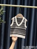兒童針織背心 兒童馬甲2021新款嬰兒馬夾春秋洋氣男童毛衣外穿寶寶針織背心潮款  嬡孕哺 新品