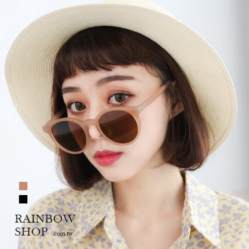 焦糖餅乾小臉造型墨鏡-A-Rainbow【A813329】