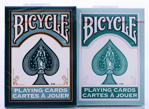 【USPCC 撲克】BICYCLE fashion playing cards darkgreen/teel