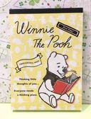 【震撼精品百貨】Winnie the Pooh 小熊維尼~便條本-讀書*51556