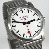 【萬年鐘錶】MONDAINE 瑞士國鐵 超薄鋼錶 XM-672116M