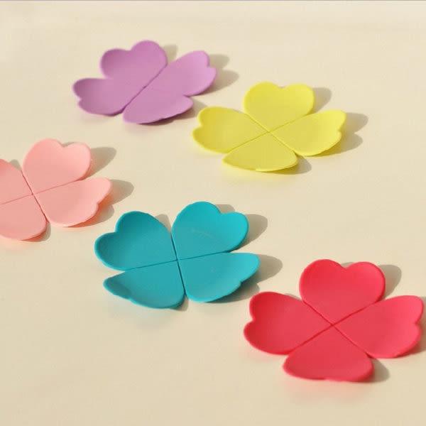 【發現。好貨】韓國可愛立體花瓣型防燙 矽膠杯墊 咖啡墊 四葉草防滑荼具墊 防滑墊 隔熱墊