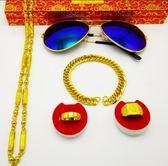 售完即止-金項鍊男士越南沙金不掉色仿真24k黃金圓珠鍊子霸氣粗個性飾品庫存清出(5-27)