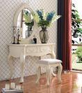 [紅蘋果傢俱] E01 歐是玫瑰系列 歐式 法式 新古典 化妝台 鏡台 梳妝台 實木妝台 (不含椅)