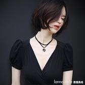 項錬女鎖骨錬脖子飾品頸帶頸錬時尚個性脖頸韓國簡約短款百搭項圈  新品全館85折