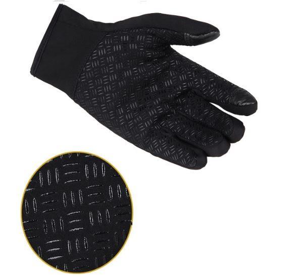 騎車防潑水觸屏手套 防風騎行手套 男女全指拉鏈運動手套 冬季保暖抓絨手套【Mr.1688先生】