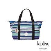 Kipling 蔚藍海岸線條塗鴉手提側背包-ART M