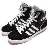 adidas 休閒鞋 Extaball W 黑 粉綠 白 高筒 流行 休閒鞋 經典 三葉草 女鞋【PUMP306】 BY2333