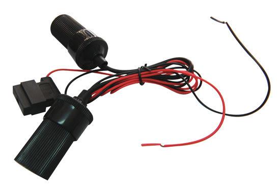 【真黃金眼】雙孔點煙器插座 附5A保險絲 90公分 不占點菸器空間 用於GPS 測速器 行車記錄器