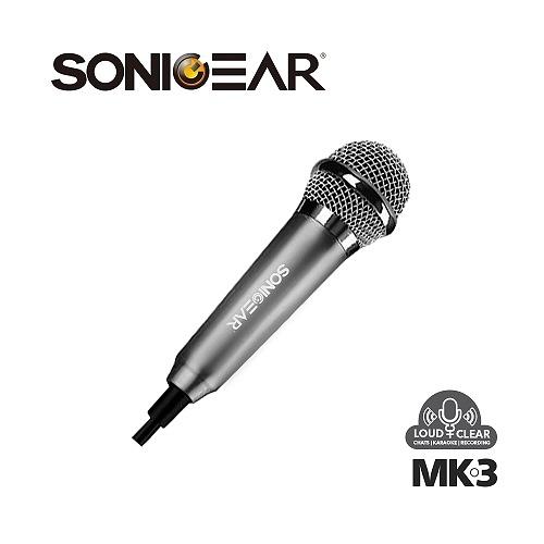 【南紡購物中心】【SONICGEAR】MK-3 迷你收音麥克風_gunmetal鋼鐵灰