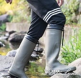 雨鞋男戶外水靴防滑套鞋時尚男士中高筒釣魚雨靴水鞋輕便插秧膠鞋 范思蓮恩