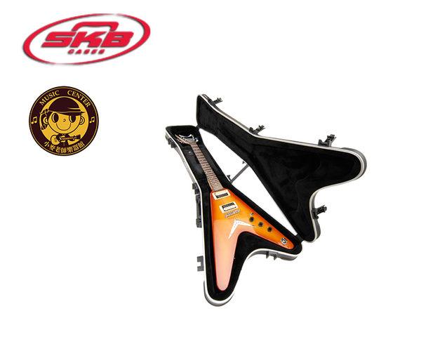 【小麥老師樂器館】SKB SKB-58 V型電吉他專用硬盒 可鎖【SKB58 】吉他 貝斯