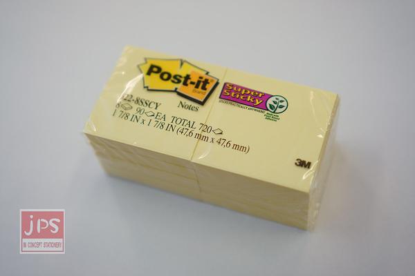 3M Post-it 利貼 狠黏 紙磚 便利貼 黃 255S-8PK-1