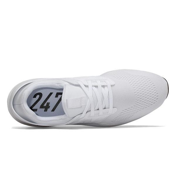 NB 247 男 女 全白 休閒鞋 運動鞋 一般楦 避震 透氣慢跑鞋 New Balance 情侶鞋 MS247EW