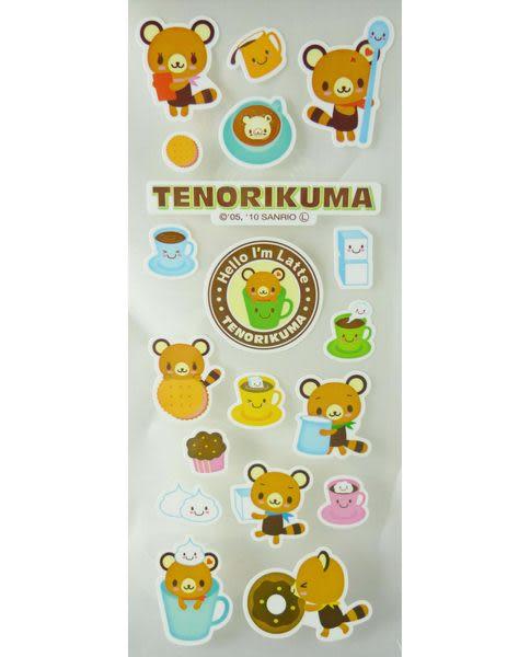 【震撼精品百貨】Tenorikuma 拿鐵熊~貼紙『平』