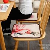 火烈鳥夏日坐墊冰絲舒適透氣餐桌墊餐椅墊辦公室涼爽隔熱坐墊 京都3C