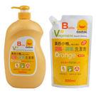 黃色小鴨 奶瓶蔬果洗潔劑-超值組(1罐+1包)